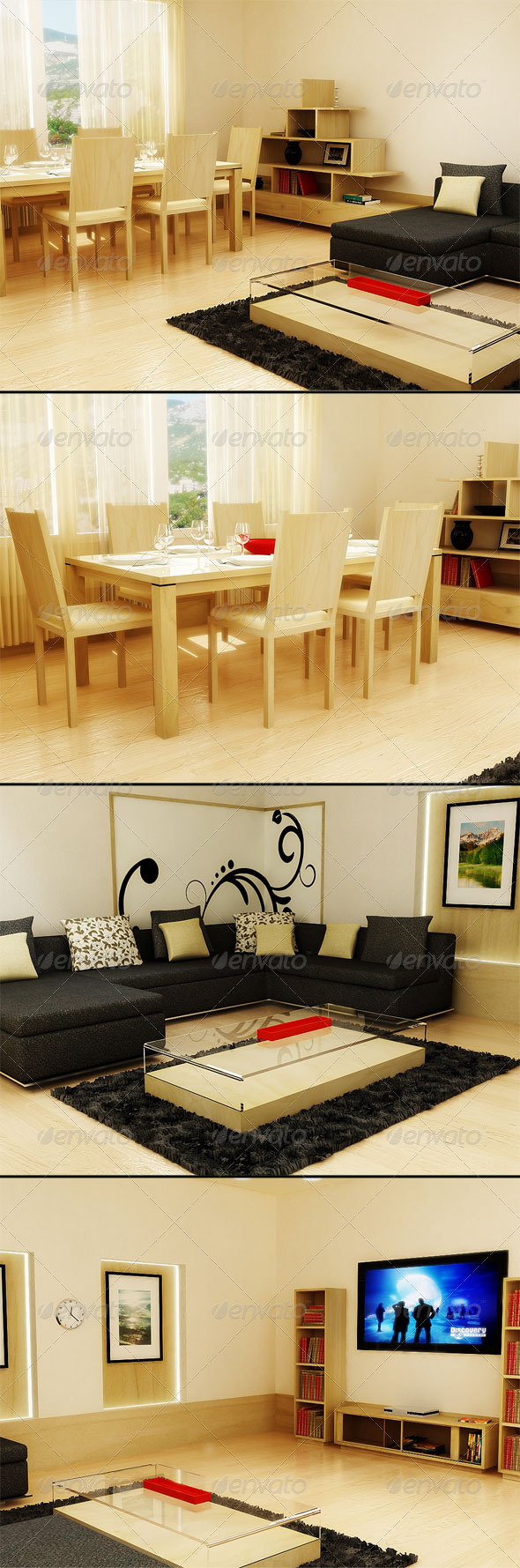 3DOcean 3D Living room 136078