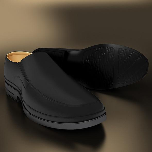 3DOcean Classic Black Shoe 10967621