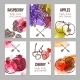 Cards With Fruits - GraphicRiver Item for Sale