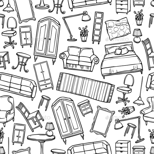 GraphicRiver Furniture Seamless Pattern 10967792