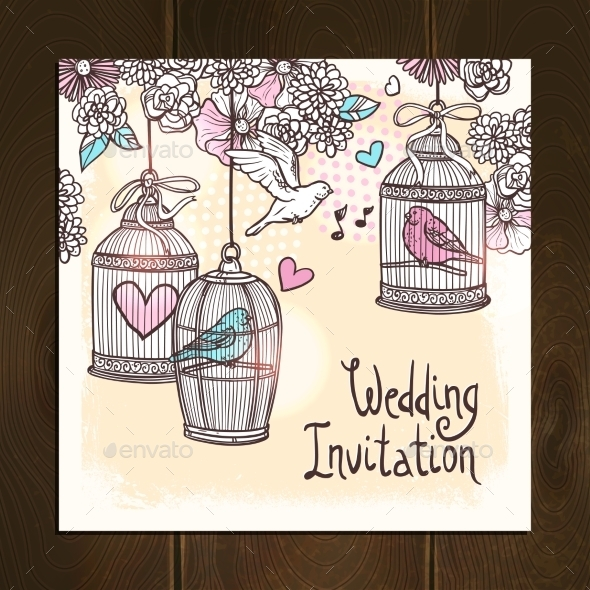 GraphicRiver Wedding Invitation Card 10967813
