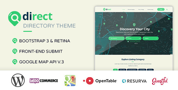 ThemeForest Pro Direct Directory & Listing Wordpress Theme 10902205