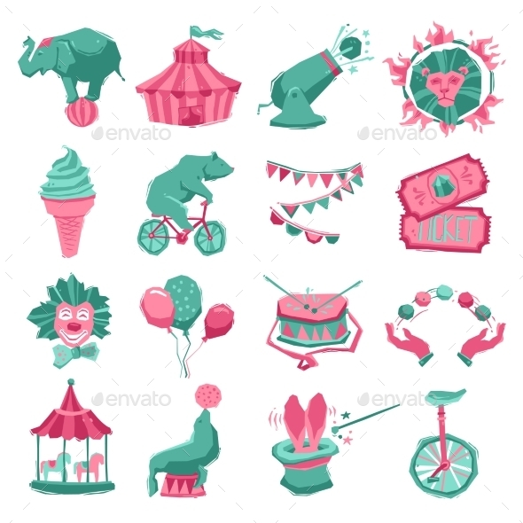 GraphicRiver Circus Icon Set 10967835