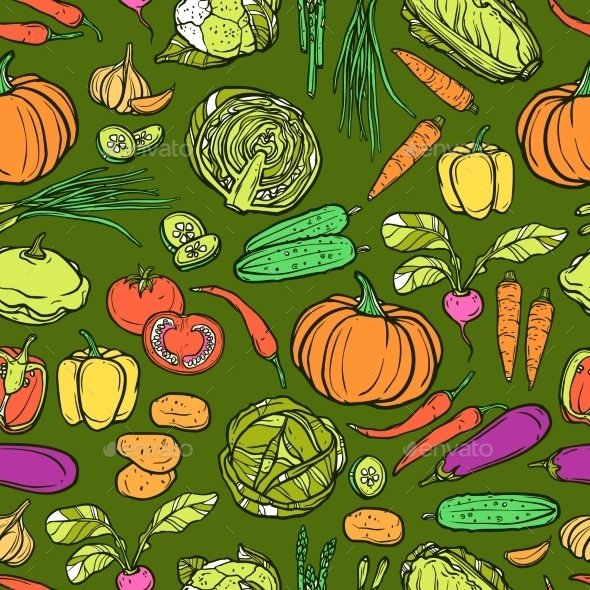 GraphicRiver Vegetables Seamless Pattern 10967840