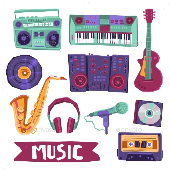 GraphicRiver Music Icon Set 10967866