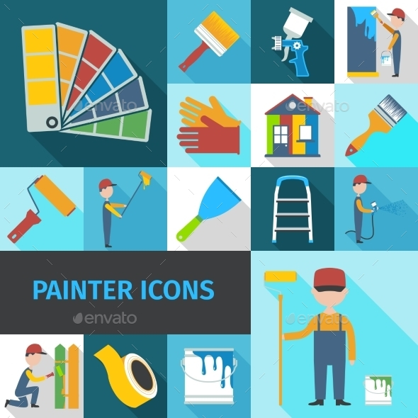 GraphicRiver Painter Icons Set 10967884