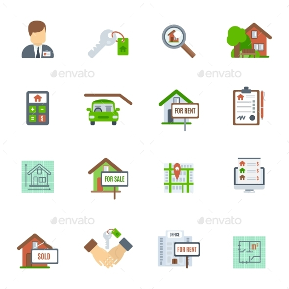 GraphicRiver Real Estate Flat Icon 10967887