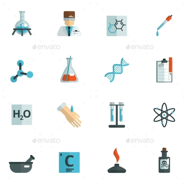 GraphicRiver Chemistry Icons Flat 10967892
