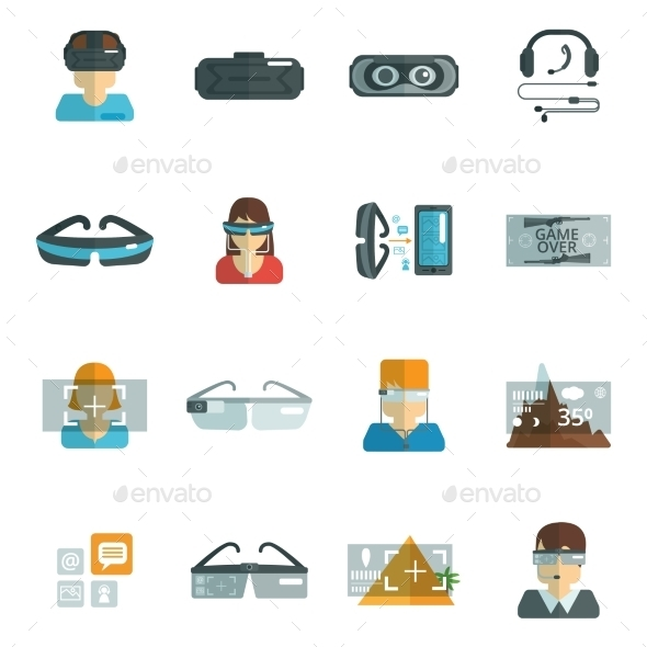 GraphicRiver Virtual Glasses Flat 10967896