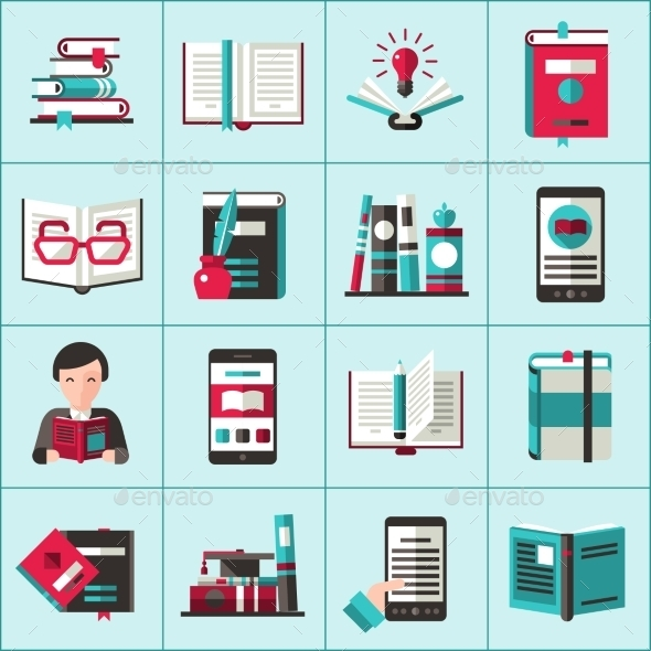 GraphicRiver Books Icons Set 10967917