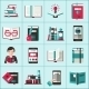Books Icons Set - GraphicRiver Item for Sale