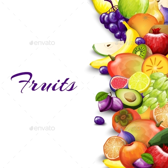 GraphicRiver Fruits Border Background 10967925