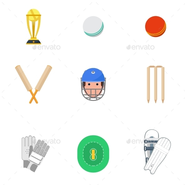GraphicRiver Cricket Icons Set 10968011