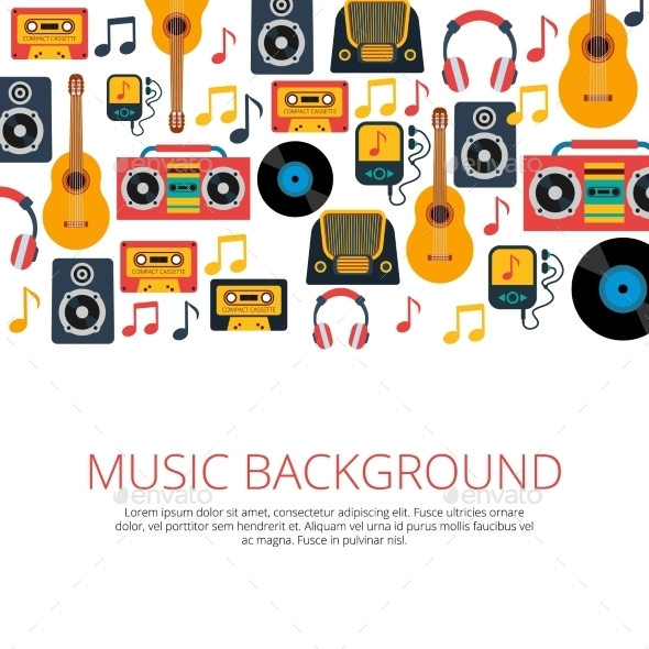 GraphicRiver Music Background 10968026