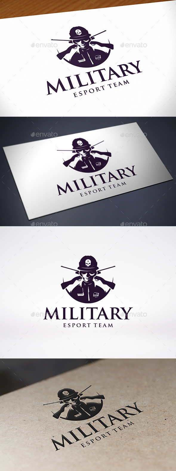 GraphicRiver Army Military Soldier Logo Template 10968410