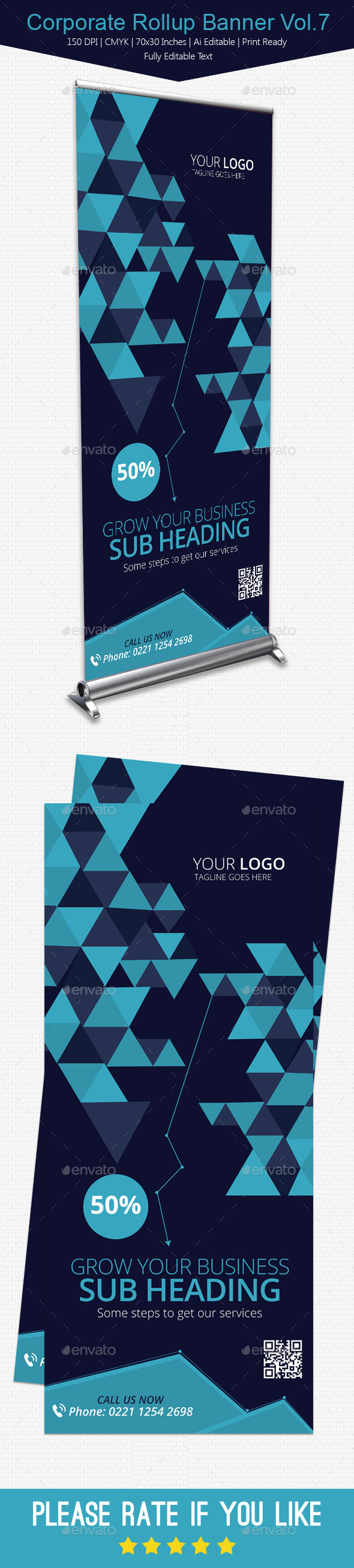 GraphicRiver Corporate Rollup Banner Vol.7 10968571