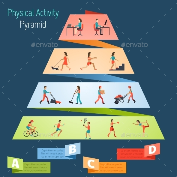 GraphicRiver Physical Activity Pyramid Infographics 10968590