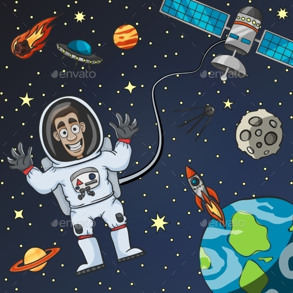 GraphicRiver Astronaut in Space 10968592