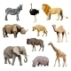 Wild African Animals Set - GraphicRiver Item for Sale