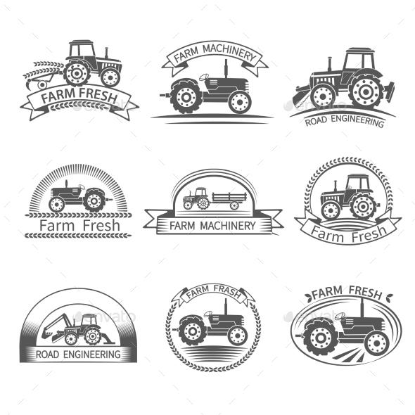 GraphicRiver Tractor Driver Label 10968611