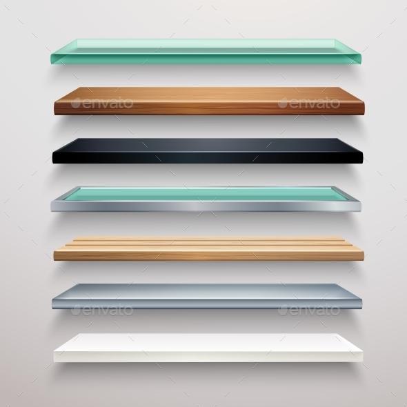 GraphicRiver Realistic Shelves Set 10968618