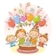 Happy Kids at the Birthday Party - GraphicRiver Item for Sale