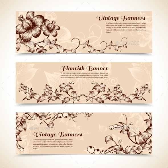 GraphicRiver Vintage Ornate Flourish Banner 10968634