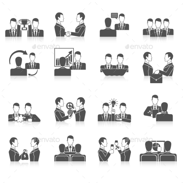 GraphicRiver Partnership Icons Set 10968645