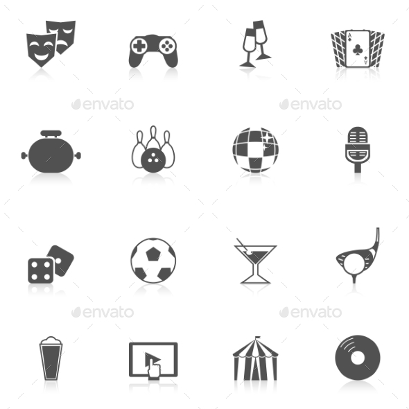 GraphicRiver Entertainment Icons 10968648