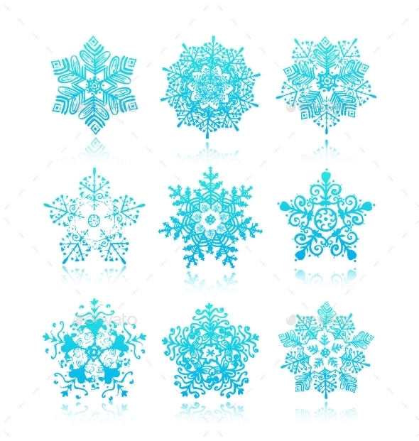 GraphicRiver Snowflakes 10968768