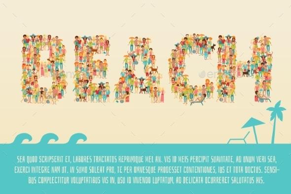 GraphicRiver Summer Beach Concept 10968841