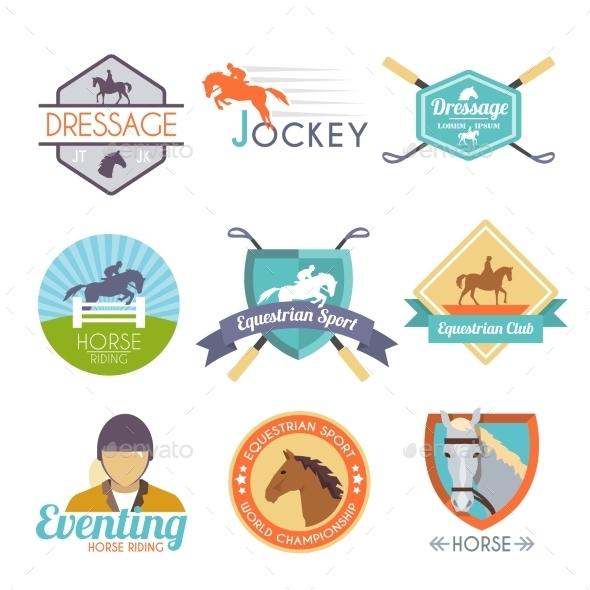 GraphicRiver Jockey Label Set 10968892