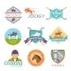 Jockey Label Set - GraphicRiver Item for Sale