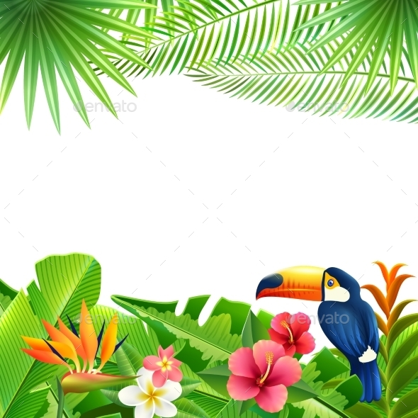 GraphicRiver Tropical Landscape Background 10968906