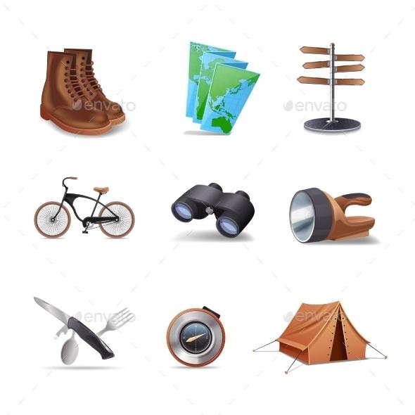 GraphicRiver Hike Icons Set 10969035