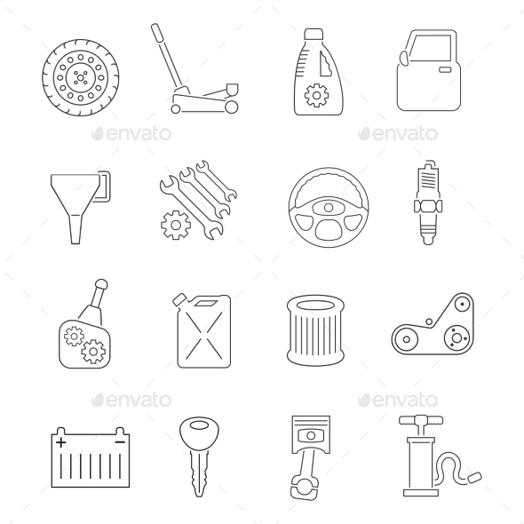 GraphicRiver Auto Service Icons Set 10969042
