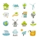 Eco Energy Icons Flat