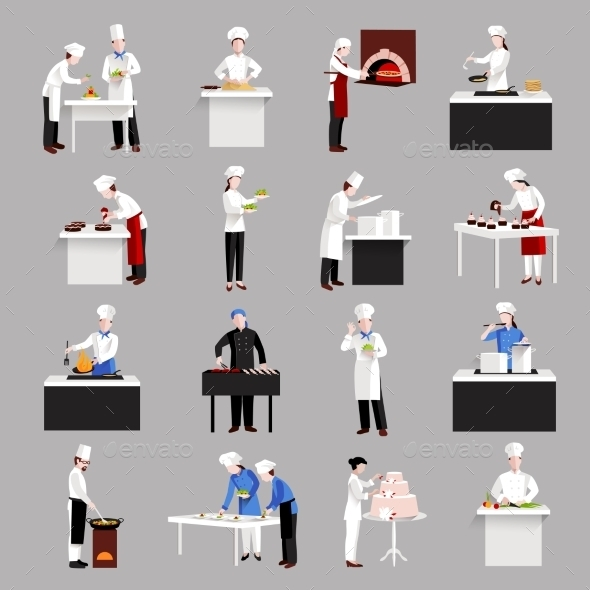 GraphicRiver Cooking Icons Set 10969115
