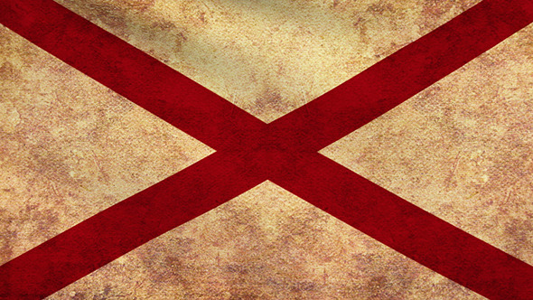 VideoHive Alabama Flag 2 Pack Grunge and Retro 10969589