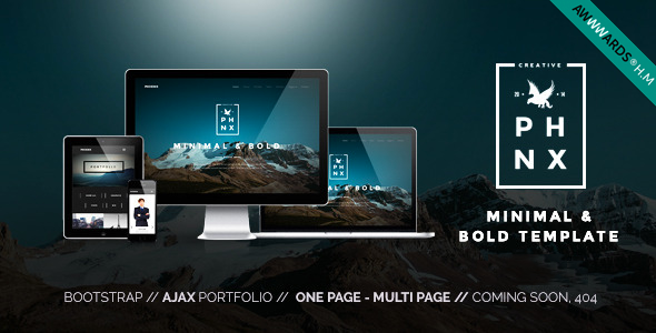 ThemeForest Phoenix WordPress Minimal Multipurpose Portfolio 10813830