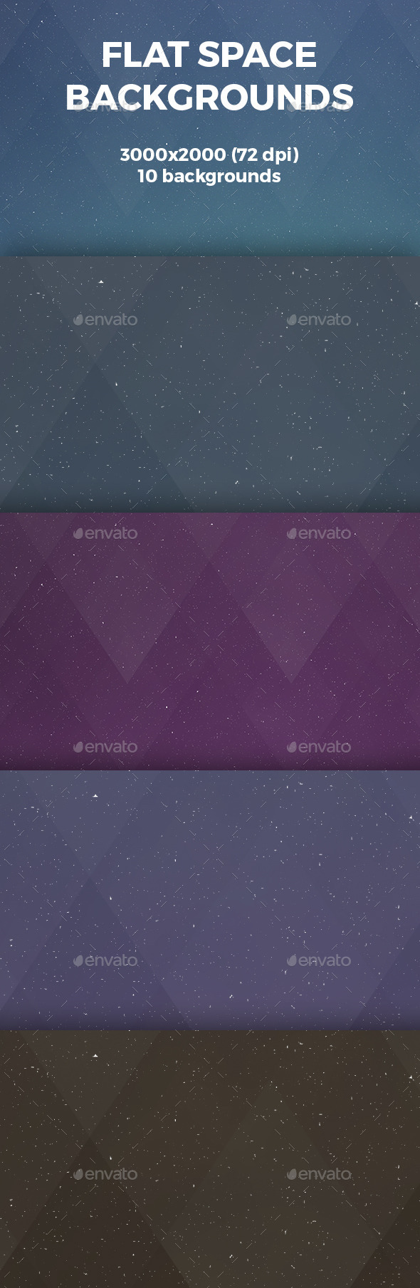 GraphicRiver Flat Space Backgrounds 10969743