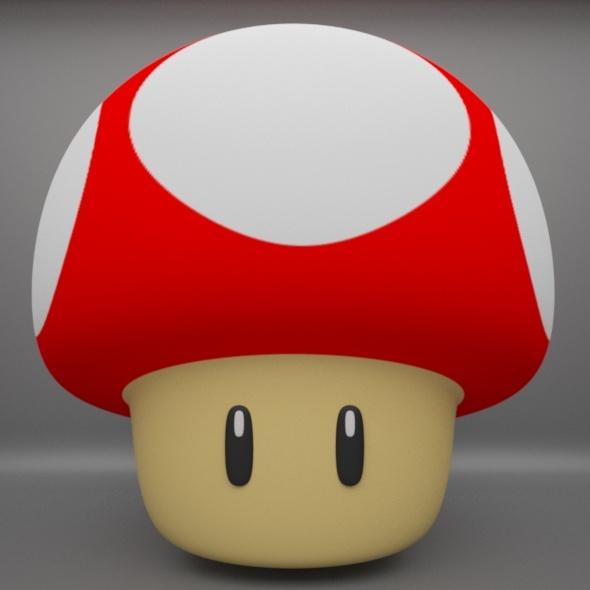 Mario Mushroom - 3DOcean Item for Sale