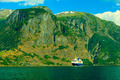 Tourism and travel. cruise ship on fjord in Norway. - PhotoDune Item for Sale