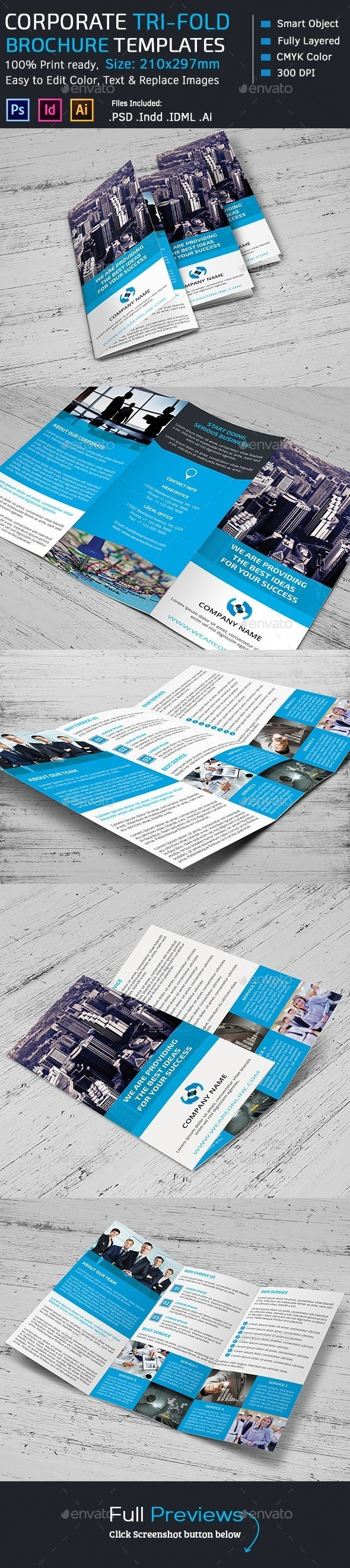 GraphicRiver Corporate Marketing Tri-Fold Brochure 10969895
