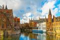 Cityscape from Rozenhoedkaai in Bruges, Belgium - PhotoDune Item for Sale