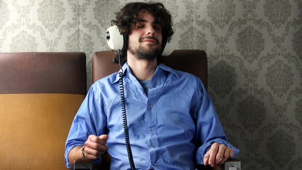 Man Listening To Music With Headphones 1