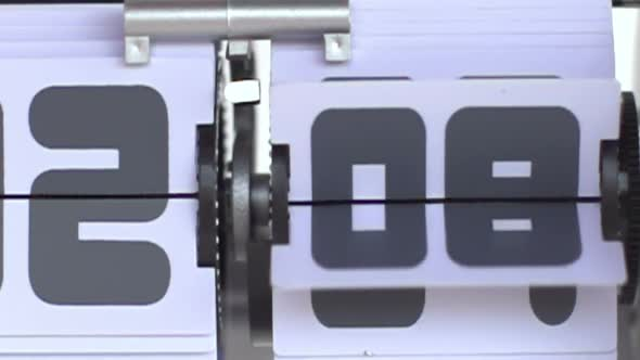 Stop Motion Of A Flip Clock Shot In Super Slow Motion With The Sony Fs 700 High Speed Camera 7
