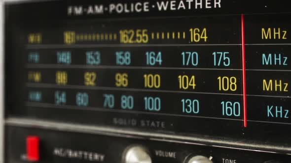 Stop Motion Of A Great Retro Radio With Police Band 4