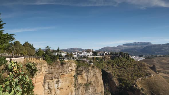 View Of The Beautiful City Of Ronda In Andalucia Spain 2