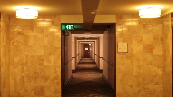 Walking Down A Hotel Corridor 2